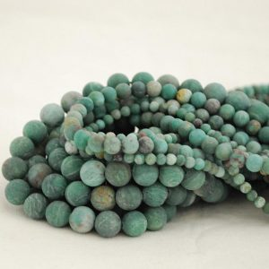 "Shop Bloodstone Beads! High Quality Grade A Natural Australian Bloodstone Semi-precious Gemstone Frosted / Matte Round Beads – 4mm, 6mm, 10mm – Approx 16"" Strand 