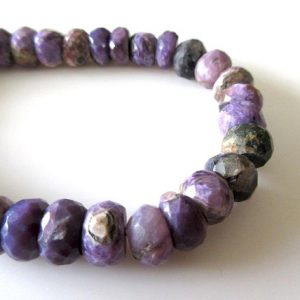 Shop Charoite Necklaces! Charoite Faceted Rondelle Beads, (9mm To 10mm Charoite Faceted Beads, Natural Charoite Gemstone Beads For Necklace For Jewelry, GDS1119 | Natural genuine gemstone jewelry in modern, chic, boho, elegant styles. Buy crystal handmade handcrafted artisan art jewelry & accessories. #jewelry #beaded #beadedjewelry #product #gifts #shopping #style #fashion #product