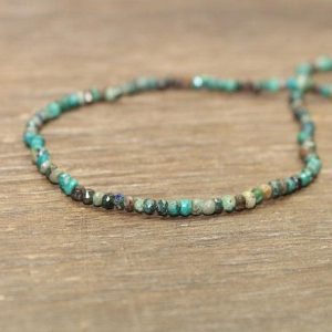 Chrysocolla Necklace, Beaded, Stacking, Chrysocolla Jewelry, Gemstone Jewelry | Natural genuine Chrysocolla necklaces. Buy crystal jewelry, handmade handcrafted artisan jewelry for women.  Unique handmade gift ideas. #jewelry #beadednecklaces #beadedjewelry #gift #shopping #handmadejewelry #fashion #style #product #necklaces #affiliate #ad