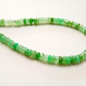 Shop Chrysoprase Faceted Beads! 10 Inch Chrysoprase Faceted Rondelle Beads, 6mm Natural Green Chrysoprase Beads, Chrysoprase Necklace – AG5031 | Natural genuine faceted Chrysoprase beads for beading and jewelry making.  #jewelry #beads #beadedjewelry #diyjewelry #jewelrymaking #beadstore #beading #affiliate #ad