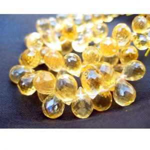 Shop Citrine Faceted Beads! Citrine Faceted Beads, Citrine Briolettes, Tear Drop Beads – 5x8mm Approx – 25 Pieces Approx | Natural genuine faceted Citrine beads for beading and jewelry making.  #jewelry #beads #beadedjewelry #diyjewelry #jewelrymaking #beadstore #beading #affiliate #ad