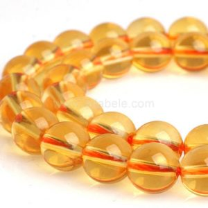 "Shop Citrine Round Beads! U Pick Top Quality Natural Citrine Gemstone Loose Beads 4mm 6mm 8mm 10mm Round Spacer Beads 15.5"" #gh2 