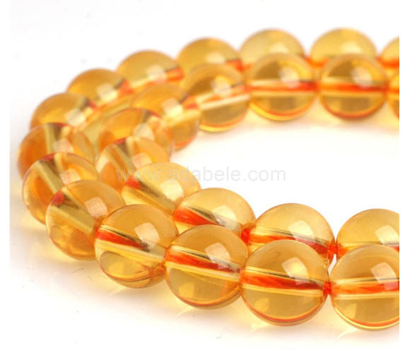 U Pick Top Quality Natural Yellow Citrine Gemstone Loose Beads 4mm 6mm 8mm 10mm Round Spacer Beads 15 Inch For Jewelry Craft Making Gh2