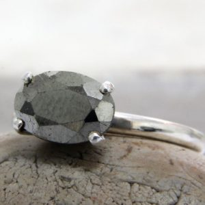 Shop Pyrite Jewelry! delicate stone ring,pyrite ring,silver ring,sterling silver stone ring,Pyrite jewelry,grey ring | Natural genuine Pyrite jewelry. Buy crystal jewelry, handmade handcrafted artisan jewelry for women.  Unique handmade gift ideas. #jewelry #beadedjewelry #beadedjewelry #gift #shopping #handmadejewelry #fashion #style #product #jewelry #affiliate #ad