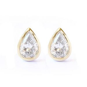 Shop Diamond Earrings! Pear diamond dainty stud earrings, indi bride, bridal diamond earrings, unique minimal diamond earrings, silly shiny diamonds | Natural genuine Diamond earrings. Buy handcrafted artisan wedding jewelry.  Unique handmade bridal jewelry gift ideas. #jewelry #beadedearrings #gift #crystaljewelry #shopping #handmadejewelry #wedding #bridal #earrings #affiliate #ad