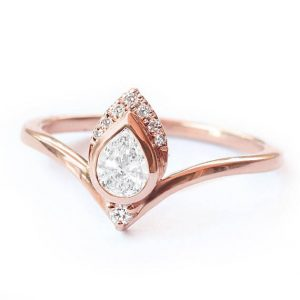 Shop Diamond Rings! Pear Diamond Engagement Ring, Unique Engagement Ring , Pear Engagement Ring, Wedding Anniversary Ring Women 'Atyasha' Silly Shiny Diamonds | Natural genuine Diamond rings, simple unique alternative gemstone engagement rings. #rings #jewelry #bridal #wedding #jewelryaccessories #engagementrings #weddingideas #affiliate #ad