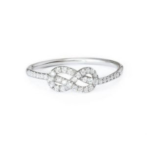 Shop Diamond Rings! Infinity Knot Diamond Ring Mini, Figure 8 Knot Gold Ring, Celtic Knot Ring, Love Knot Diamond Wedding Band, 14K Rose Gold Rings for Women, | Natural genuine Diamond rings, simple unique alternative gemstone engagement rings. #rings #jewelry #bridal #wedding #jewelryaccessories #engagementrings #weddingideas #affiliate #ad