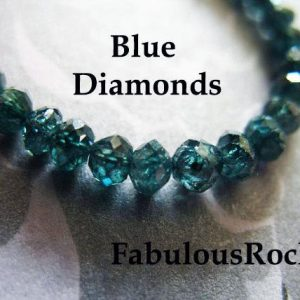 Shop Rondelle Gemstone Beads! 1-50 Pcs / Diamond Beads, 2-2.5 Mm, White Black Blue Champagne Diamond Rondelles, Aaa / April Birthstone Diamond Gemstones Gems Drbb 25 Tr | Natural genuine rondelle Gemstone beads for beading and jewelry making.  #jewelry #beads #beadedjewelry #diyjewelry #jewelrymaking #beadstore #beading #affiliate #ad
