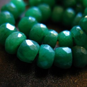 10-50 pcs, EMERALD RONDELLES Beads, Luxe AAA, 3-4 mm, Dyed Emerald Kelly Green may birthstone brides bridal true tr e der | Natural genuine rondelle Emerald beads for beading and jewelry making.  #jewelry #beads #beadedjewelry #diyjewelry #jewelrymaking #beadstore #beading #affiliate #ad