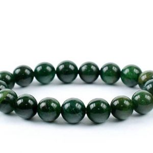 Shop Garnet Bracelets! 10mm Green Garnet Bracelet, Garnet Bracelets 10 mm, Garnet Bead Bracelet, Uvarovite Garnet Bracelet, Reiki Jewelry, Strech Garnet Bracelet | Natural genuine Garnet bracelets. Buy crystal jewelry, handmade handcrafted artisan jewelry for women.  Unique handmade gift ideas. #jewelry #beadedbracelets #beadedjewelry #gift #shopping #handmadejewelry #fashion #style #product #bracelets #affiliate #ad