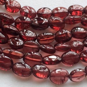 Shop Garnet Chip Beads! Garnet Plain Oval Beads, Mozambique Garnet, Oval Nugget Beads, Garnet Necklace, 4.5-5mm, 7 Inch, 30 Pcs – RAM17 | Natural genuine chip Garnet beads for beading and jewelry making.  #jewelry #beads #beadedjewelry #diyjewelry #jewelrymaking #beadstore #beading #affiliate