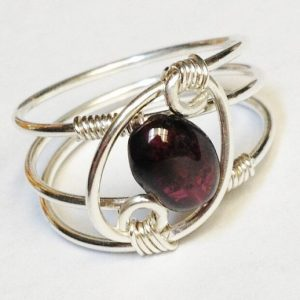 Garnet Ring, Garnet Jewelry, January Birthstone, Sterling Rings for Women, Silver Ring, Sterling Silver Ring, | Natural genuine Garnet jewelry. Buy crystal jewelry, handmade handcrafted artisan jewelry for women.  Unique handmade gift ideas. #jewelry #beadedjewelry #beadedjewelry #gift #shopping #handmadejewelry #fashion #style #product #jewelry #affiliate #ad