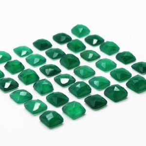 Shop Onyx Stones & Crystals! GCF-1032 – Green Onyx Cabochon – 6x6mm Square – Faceted Cabochon – Gemstone Cabochon – Package Of 4 Pcs | Natural genuine stones & crystals in various shapes & sizes. Buy raw cut, tumbled, or polished gemstones for making jewelry or crystal healing energy vibration raising reiki stones. #crystals #gemstones #crystalhealing #crystalsandgemstones #energyhealing #affiliate #ad
