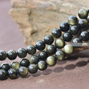 Grade A Natural Gold Obsidian Beads NOT Dyed 4mm-20mm Smooth Polished Round 15 Inch Strand OB12 | Natural genuine round Golden Obsidian beads for beading and jewelry making.  #jewelry #beads #beadedjewelry #diyjewelry #jewelrymaking #beadstore #beading #affiliate #ad