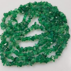 "Shop Onyx Chip & Nugget Beads! Grade AB Genuine Natural Green Onyx Chip Beads, 4~6mm – 36"" Strand 
