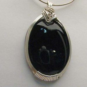 Shop Onyx Pendants! Handmade Solid Sterling Silver Wire Wrap Black Onyx Pendant | Natural genuine Onyx pendants. Buy crystal jewelry, handmade handcrafted artisan jewelry for women.  Unique handmade gift ideas. #jewelry #beadedpendants #beadedjewelry #gift #shopping #handmadejewelry #fashion #style #product #pendants #affiliate #ad