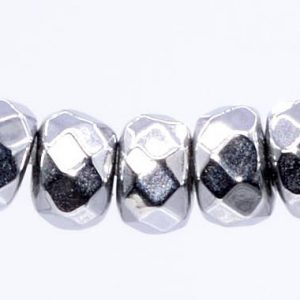 Shop Hematite Beads! 202 / 101 Pcs – 3x2MM Silver Hematite Beads Grade AAA Faceted Rondelle Natural Gemstone Loose Beads (101661) | Natural genuine beads Hematite beads for beading and jewelry making.  #jewelry #beads #beadedjewelry #diyjewelry #jewelrymaking #beadstore #beading #affiliate #ad