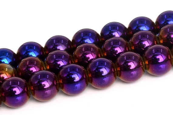 Purple Hematite Beads Grade Aaa Natural Gemstone Round Loose Beads 2mm 3mm 4mm 6mm 10mm 12mm Bulk Lot Options