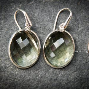 Shop Iolite Earrings! Prasiolite Dangle Earrings, Green Amethyst, Stunning Green Quartz Checkerboard Prasiolite earrings – Green Quartz – Green Amethyst Dangles | Natural genuine Iolite earrings. Buy crystal jewelry, handmade handcrafted artisan jewelry for women.  Unique handmade gift ideas. #jewelry #beadedearrings #beadedjewelry #gift #shopping #handmadejewelry #fashion #style #product #earrings #affiliate #ad