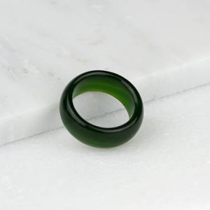 Mens Jade Ring, Green Jade Ring, Nephrite Jade Ring, Mens Jade Jewelry, Jade Mens Ring | Natural genuine Gemstone mens fashion rings, simple unique handcrafted gemstone men's rings, gifts for men. Anillos hombre. #rings #jewelry #crystaljewelry #gemstonejewelry #handmadejewelry #affiliate #ad