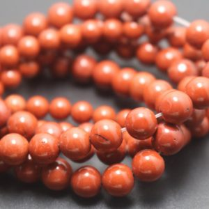 Shop Red Jasper Beads! 6mm/8mm/10mm/12mm Red Jasper Beads,Smooth and Round Stone Beads,15 inches one starand | Natural genuine beads Jasper beads for beading and jewelry making.  #jewelry #beads #beadedjewelry #diyjewelry #jewelrymaking #beadstore #beading #affiliate #ad