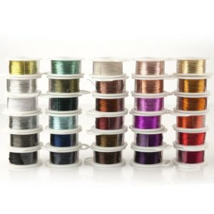 Jewelry wire for wire crochet jewelry, Best craft wire craft supplies, Crochet Crafting wire, 28 gauge wire, 120 feet wire, Non tarnish wire | Shop Jewelry Making and Beading Supplies. #jewelrymaking #diy #diyjewelry #product #crafting #craft