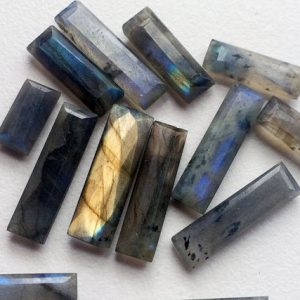 Shop Labradorite Bead Shapes! 14-27mm Labradorite Rectangle Sticks, Labradorite Faceted Sticks, Loose Labradorite Gem, Fire Labradorite For Jewelry (2Pcs To 10Pcs Option) | Natural genuine other-shape Labradorite beads for beading and jewelry making.  #jewelry #beads #beadedjewelry #diyjewelry #jewelrymaking #beadstore #beading #affiliate #ad
