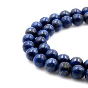 Shop Lapis Lazuli Round Beads! U Pick Natural Blue Lapis Lazuli Gemstone 4mm 6mm 8mm 10mm Round Loose Gems Stone Beads 15 Inch Per Strand For Jewelry Craft Making Gs5 | Natural genuine round Lapis Lazuli beads for beading and jewelry making.  #jewelry #beads #beadedjewelry #diyjewelry #jewelrymaking #beadstore #beading #affiliate #ad