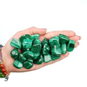 Malachite Tumbled Stone, Malachite Tumbled Stones, Healing Malachite Crystals, Malachite Healing Stones, LadiesCrystals, Ladies Crystals | Natural genuine stones & crystals in various shapes & sizes. Buy raw cut, tumbled, or polished gemstones for making jewelry or crystal healing energy vibration raising reiki stones. #crystals #gemstones #crystalhealing #crystalsandgemstones #energyhealing #affiliate #ad
