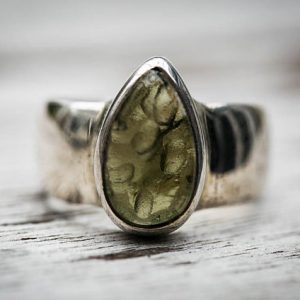 Shop Moldavite Stones & Crystals! Moldavite Ring 8 – Silver And Moldavite Half Raw Half Smooth Ring Size 8 (unisex) – Moldavite Ring Size 8 – Moldavite Ring – Raw Moldavite | Natural genuine stones & crystals in various shapes & sizes. Buy raw cut, tumbled, or polished gemstones for making jewelry or crystal healing energy vibration raising reiki stones. #crystals #gemstones #crystalhealing #crystalsandgemstones #energyhealing #affiliate #ad