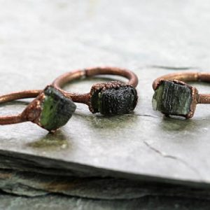 Shop Moldavite Jewelry! Moldavite Ring – Geekery Gift- Natural Green Crystal – Tektite Jewelry – Silver Moldavite Ring | Natural genuine Moldavite jewelry. Buy crystal jewelry, handmade handcrafted artisan jewelry for women.  Unique handmade gift ideas. #jewelry #beadedjewelry #beadedjewelry #gift #shopping #handmadejewelry #fashion #style #product #jewelry #affiliate #ad