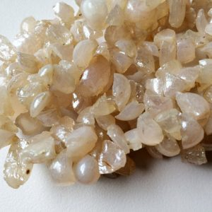 Shop Moonstone Chip & Nugget Beads! 6-17mm Moonstone Rough Chips, Peach Moonstone Treated Raw Beads, Natural Peach Moonstone Beads For Jewelry,Peach Moonstone 42 Pcs in 7 Inch | Natural genuine chip Moonstone beads for beading and jewelry making.  #jewelry #beads #beadedjewelry #diyjewelry #jewelrymaking #beadstore #beading #affiliate #ad