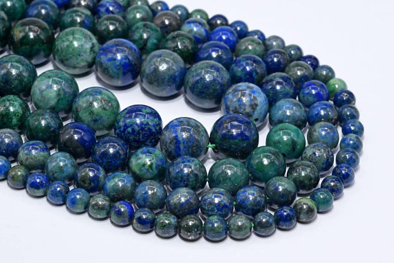 Natural Azurite Loose Beads Round Shape 6mm 8mm 10mm 16mm