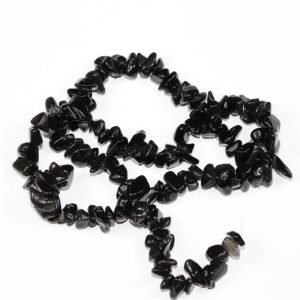 U Pick Top Quality Natural Black Obsidian Gemstone Free Form 5-8mm Gems Stone Chip Beads 33 Inch Per Strand For Jewelry Craft Making Gz1-22 | Natural genuine chip Obsidian beads for beading and jewelry making.  #jewelry #beads #beadedjewelry #diyjewelry #jewelrymaking #beadstore #beading #affiliate #ad