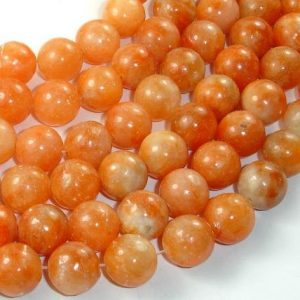 Shop Calcite Beads! Orange Calcite Beads, 12mm, 16 Inch, Full strand, Approx 34 beads, Hole 1mm (335054005) | Natural genuine round Calcite beads for beading and jewelry making.  #jewelry #beads #beadedjewelry #diyjewelry #jewelrymaking #beadstore #beading #affiliate #ad