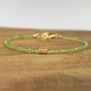 Shop Peridot Bracelets! Peridot Bracelet, Vermeil or Sterling Silver Bali Beads, Peridot Jewelry, August Birthstone, Minimalist, Gemstone Jewelry | Natural genuine Peridot bracelets. Buy crystal jewelry, handmade handcrafted artisan jewelry for women.  Unique handmade gift ideas. #jewelry #beadedbracelets #beadedjewelry #gift #shopping #handmadejewelry #fashion #style #product #bracelets #affiliate #ad