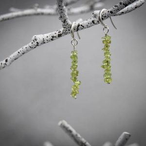 Raw Peridot Earrings prosperity jewelry, raw crystal earrings, August Birthstone | Natural genuine Gemstone earrings. Buy crystal jewelry, handmade handcrafted artisan jewelry for women.  Unique handmade gift ideas. #jewelry #beadedearrings #beadedjewelry #gift #shopping #handmadejewelry #fashion #style #product #earrings #affiliate #ad