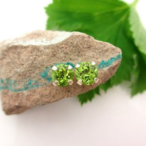 Shop Peridot Jewelry! Peridot Studs – Genuine Peridot Stud Earrings in Real 14k Gold, Sterling Silver, or Platinum – 3mm, 4mm, 6mm, 7mm | Natural genuine Peridot jewelry. Buy crystal jewelry, handmade handcrafted artisan jewelry for women.  Unique handmade gift ideas. #jewelry #beadedjewelry #beadedjewelry #gift #shopping #handmadejewelry #fashion #style #product #jewelry #affiliate #ad