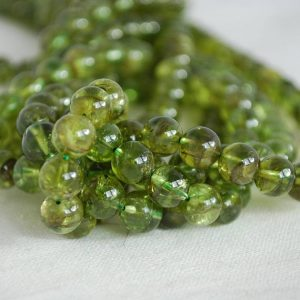 """Shop Peridot Beads! High Quality Grade A Natural Peridot (green) Semi-precious Gemstone Round Beads – 4mm, 6mm, 8mm Sizes – 16"""" Strand 
