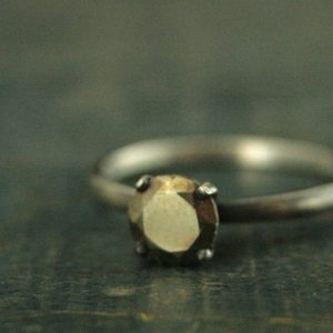 Shop Pyrite Jewelry! Pyrite Ring Alternative Engagement Ring Mixed Metals Sterling Silver and Pyrite Engagement Ring Gold Stone Ring Pyrite Solitaire Unique | Natural genuine Pyrite jewelry. Buy handcrafted artisan wedding jewelry.  Unique handmade bridal jewelry gift ideas. #jewelry #beadedjewelry #gift #crystaljewelry #shopping #handmadejewelry #wedding #bridal #jewelry #affiliate #ad