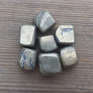 Shop Pyrite Stones & Crystals! PYRITE TUMBLED Stone One (1) Medium/Large Natural Tumble Stone | Natural genuine stones & crystals in various shapes & sizes. Buy raw cut, tumbled, or polished gemstones for making jewelry or crystal healing energy vibration raising reiki stones. #crystals #gemstones #crystalhealing #crystalsandgemstones #energyhealing #affiliate #ad