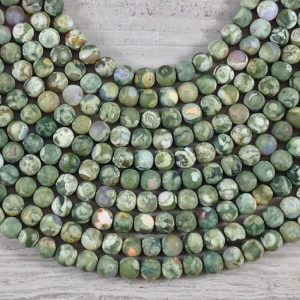 Shop Rainforest Jasper Beads! Rainforest Jasper aka Green Rhyolite Matte Round A Grade | Natural genuine round Rainforest Jasper beads for beading and jewelry making.  #jewelry #beads #beadedjewelry #diyjewelry #jewelrymaking #beadstore #beading #affiliate #ad