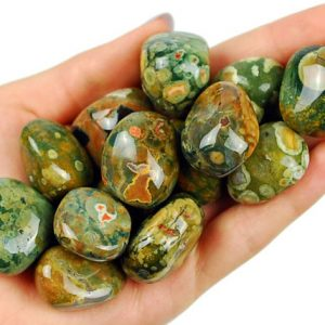 Rainforest Rhyolite Tumbled Stone, Healing Rainforest Jasper Crystals, Healing Rhyolite Stones, Natural Rainforest Green Jasper | Natural genuine stones & crystals in various shapes & sizes. Buy raw cut, tumbled, or polished gemstones for making jewelry or crystal healing energy vibration raising reiki stones. #crystals #gemstones #crystalhealing #crystalsandgemstones #energyhealing #affiliate #ad