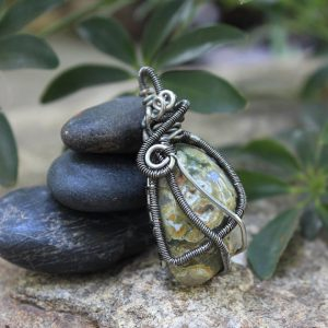 Shop Rainforest Jasper Pendants! Rainforest Jasper Wire Wrap | Natural genuine Rainforest Jasper pendants. Buy crystal jewelry, handmade handcrafted artisan jewelry for women.  Unique handmade gift ideas. #jewelry #beadedpendants #beadedjewelry #gift #shopping #handmadejewelry #fashion #style #product #pendants #affiliate #ad