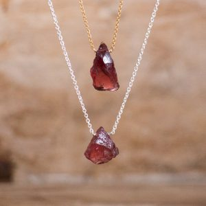 Shop Healing Gemstone & Crystal Pendants! Raw Garnet Necklace, Raw Stone Necklace, Rough Garnet Necklace Men, Raw Crystal Necklace, January Birthstone Necklaces for Women | Natural genuine Gemstone pendants. Buy crystal jewelry, handmade handcrafted artisan jewelry for women.  Unique handmade gift ideas. #jewelry #beadedpendants #beadedjewelry #gift #shopping #handmadejewelry #fashion #style #product #pendants #affiliate #ad