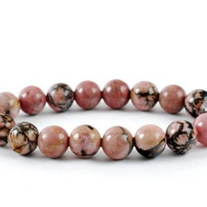 Shop Rhodonite Bracelets! Rhodonite Bracelet, Rhodonite Bracelets 10 mm, Fertility Bracelets, Calming Bead Bracelet, Rhodonite Crystals, Gift For Her, Rhodonite | Natural genuine Rhodonite bracelets. Buy crystal jewelry, handmade handcrafted artisan jewelry for women.  Unique handmade gift ideas. #jewelry #beadedbracelets #beadedjewelry #gift #shopping #handmadejewelry #fashion #style #product #bracelets #affiliate #ad