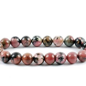 Shop Rhodonite Bracelets! 8mm Rhodonite Bracelet, Rhodonite Bracelets 8 mm, Fertility Bracelets, Calming Bead Bracelet, Rhodonite Crystals, Gift For Her, Rhodonite | Natural genuine Rhodonite bracelets. Buy crystal jewelry, handmade handcrafted artisan jewelry for women.  Unique handmade gift ideas. #jewelry #beadedbracelets #beadedjewelry #gift #shopping #handmadejewelry #fashion #style #product #bracelets #affiliate #ad