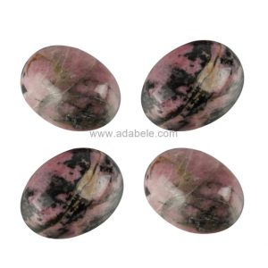 Shop Rhodonite Gemstones! 2pcs Aaa Natural Rhodonite Oval Cabochon Arc Bottom Gemstone Cabochons 18x13mm #go46 | Natural genuine gemstones & crystals in various shapes & sizes. Buy raw cut, tumbled, or polished for making jewelry or crystal healing energy reiki stones. #crystals #gemstones #crystalhealing #crystalsandgemstones #energyhealing #affiliate