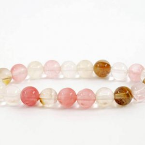 Shop Rose Quartz Bracelets! Mixed Color Quartz Bracelet, Pink Quartz Bracelets 8mm, Grounding Bracelet, White Quartz Healing Bead Bracelet, Rose Quartz Natural Bracelet | Natural genuine Rose Quartz bracelets. Buy crystal jewelry, handmade handcrafted artisan jewelry for women.  Unique handmade gift ideas. #jewelry #beadedbracelets #beadedjewelry #gift #shopping #handmadejewelry #fashion #style #product #bracelets #affiliate #ad