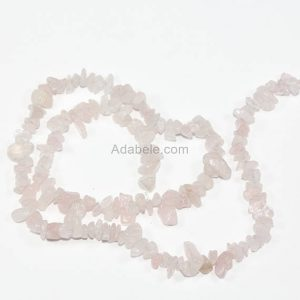 "Shop Rose Quartz Chip & Nugget Beads! Aaa Natural Rose Quartz Gemstones Smooth Chips Beads Free-form Loose Beads ~8x5mm Beads ( ~16"") Gz1-13 